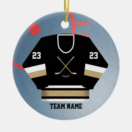 Hockey Player Jersey Ornament