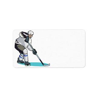 Hockey Player Label
