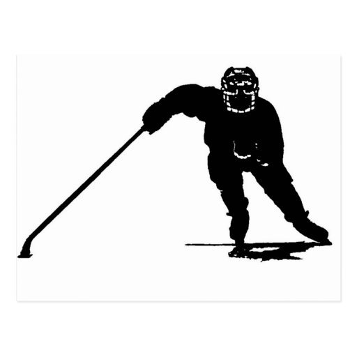 Hockey Player Post Card