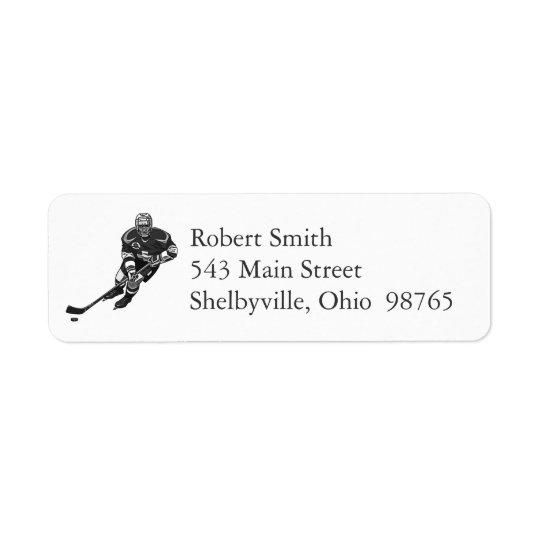 Hockey Player Return Address Labels