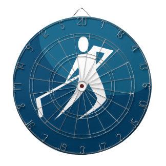Hockey Player Stick Figure Icon Dart Boards