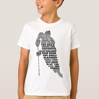 Hockey Player Typography Art T-Shirt