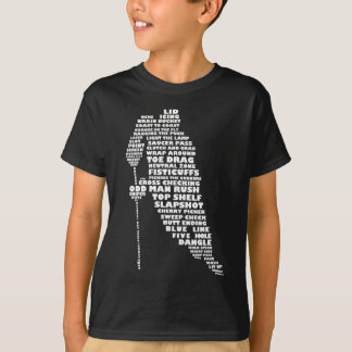 Hockey Player Typography Children's T-Shirt