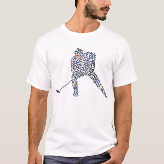 Hockey Player Typography Tee, with Back Print T-Shirt