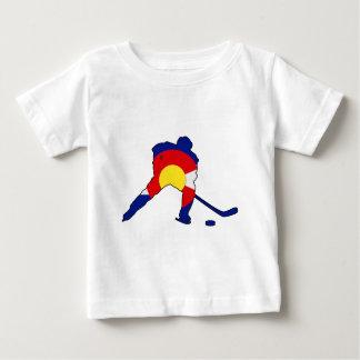 Hockey Player With Colorado Pride Baby T-Shirt