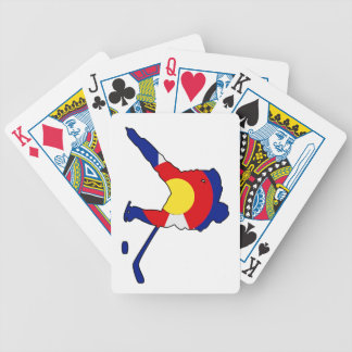 Hockey Player With Colorado Pride Bicycle Playing Cards