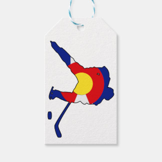 Hockey Player With Colorado Pride Gift Tags
