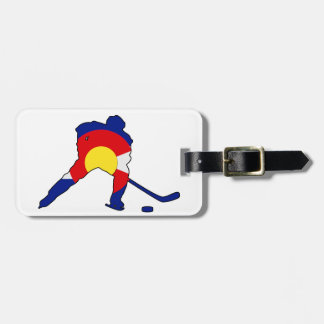 Hockey Player With Colorado Pride Luggage Tag