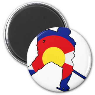 Hockey Player With Colorado Pride Magnet