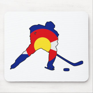 Hockey Player With Colorado Pride Mouse Pad