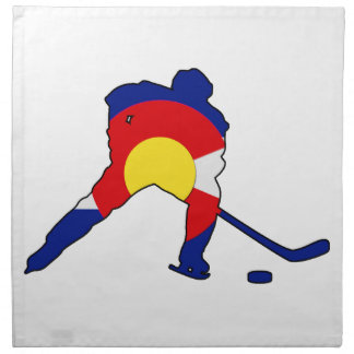 Hockey Player With Colorado Pride Napkin