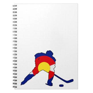Hockey Player With Colorado Pride Notebook