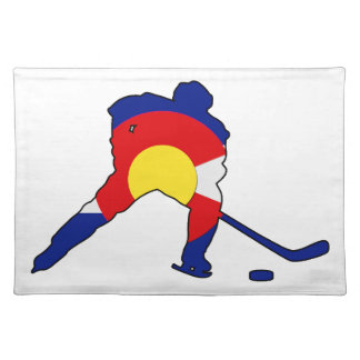 Hockey Player With Colorado Pride Placemat
