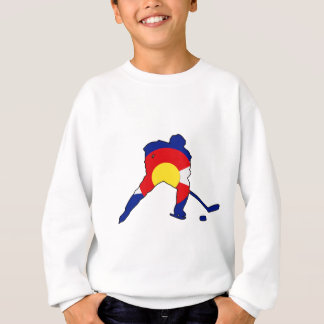 Hockey Player With Colorado Pride Sweatshirt