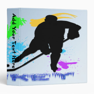 "Hockey Players  1.5"" Binder"