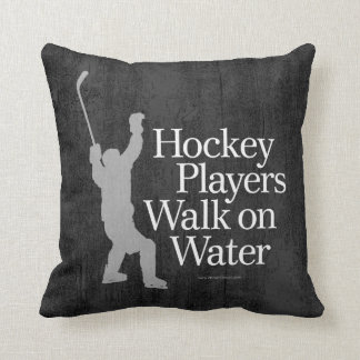 Hockey Players Walk On Water Throw Pillow