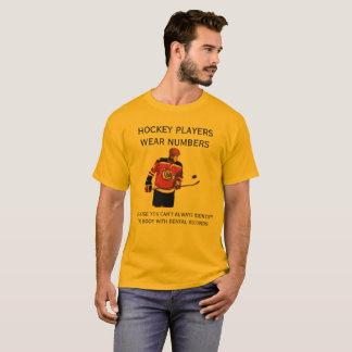 HOCKEY PLAYERS WEAR NUMBERS EXPLANATION  TSHIRT