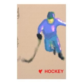 Hockey Playoff Art Customized Stationery