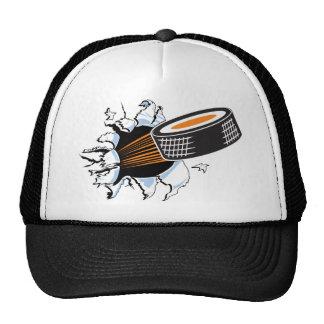 Hockey puck mesh hats