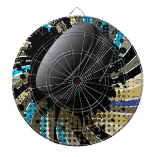 Hockey Puck on Background with Rays Dartboards