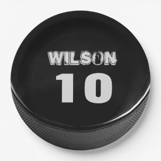 """Hockey Puck Paper Plate Birthday Party 19"""""""