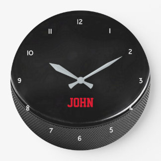 Hockey Puck Personalized Wall Clock