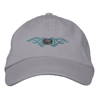 Hockey Puck Tribal Embroidered Hat