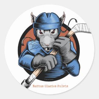 Hockey Rat Classic Round Sticker