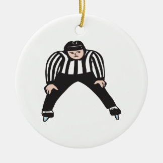 Hockey Referee Ceramic Ornament