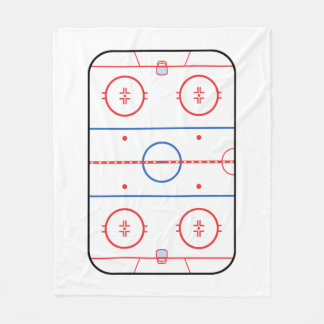 Hockey Rink Companion Autograph Ready Fleece Blanket