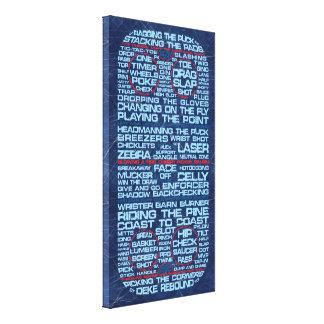 Hockey Rink Typography Canvas Print