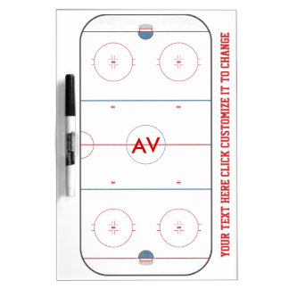 Hockey Rink White Board Dry-Erase Whiteboard