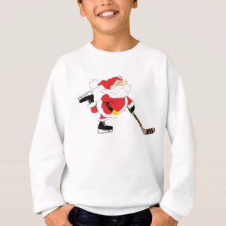 Hockey Santa Skating Christmas Sweatshirt