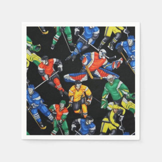 Hockey Season Ice Hockey Napkins Paper Napkins