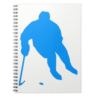 Hockey Silhouette Notebook