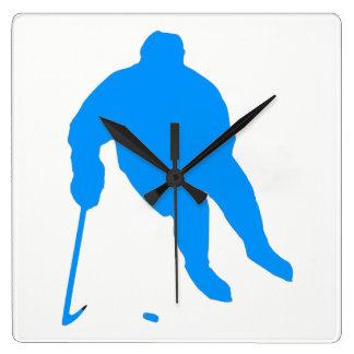 Hockey Silhouette Square Wall Clock