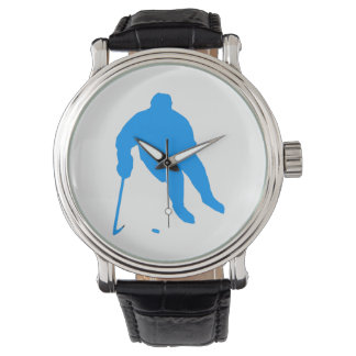 Hockey Silhouette Wrist Watches