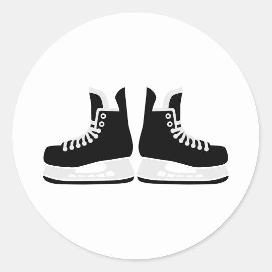 Hockey skates classic round sticker