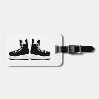 Hockey skates luggage tag