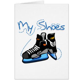 Hockey Skates My Shoes Tshirts and Gifts Greeting Card