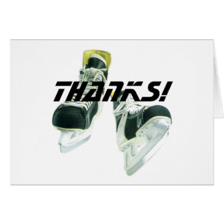 Hockey Skates-Thanks! Card