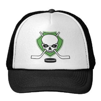 hockey skull trucker hat
