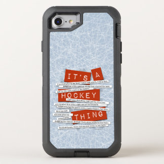 Hockey Slang OtterBox Defender iPhone 8/7 Case