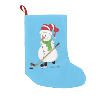 Hockey Snowman Christmas Stocking