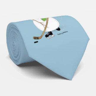 Hockey Snowman Tie
