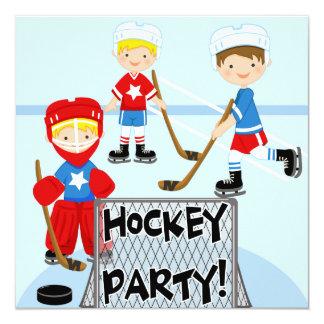 Hockey Sports Party Custom Birthday Invitations