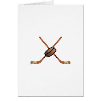 Hockey Sticks & Puck Greeting Card