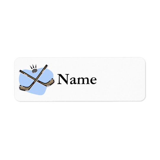 Hockey Sticks Return Address Label