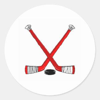Hockey Sticks Round Sticker