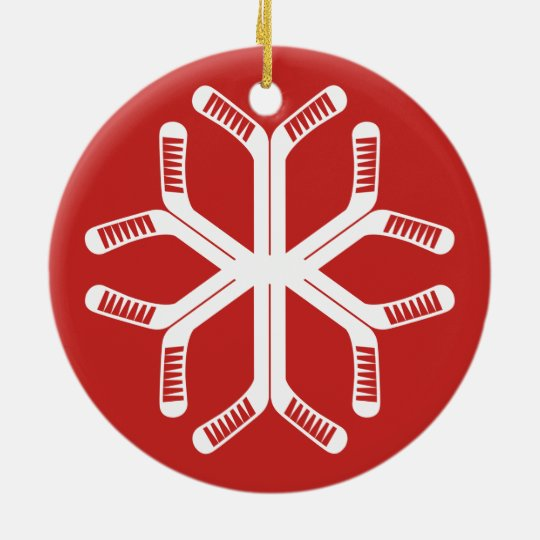Hockey Sticks Snowflake Holiday Decoration
